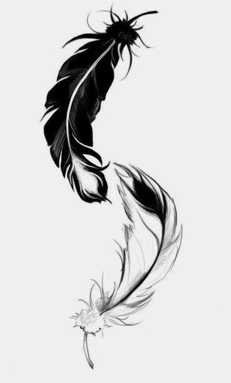 Pin by Carol Cahill on Ruffled Feathers | Feather tattoos, Yin yang tattoos, Tattoos