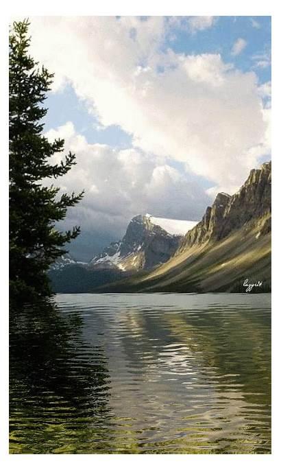 Nature Lake Gifs Animated Paisajes Phone Mundo
