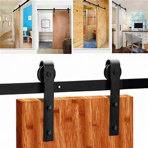 Rail Porte Coulissante Exterieure : 6 6 6ft porte coulissante tringle rail acier inoxydable ~ Dallasstarsshop.com Idées de Décoration