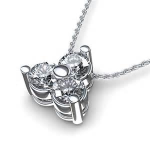 3 carat solitaire engagement ring cluster 1 3 ctw pendant in palladium