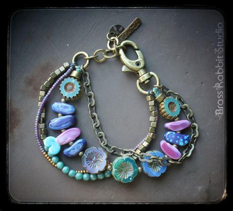 Colorful Gypsy Inspired Multistrand Bracelet In Vivid