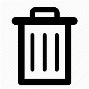 Bin, delete, empty, full, recycle, remove, trash icon ...