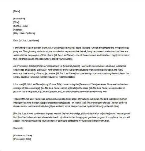 letter  recommendation format ideas