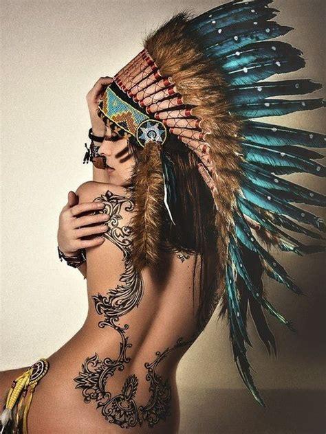 Best Native Woman Tattoo Idea Images On Pinterest