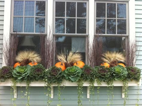 fall window boxes ideas  pinterest fall