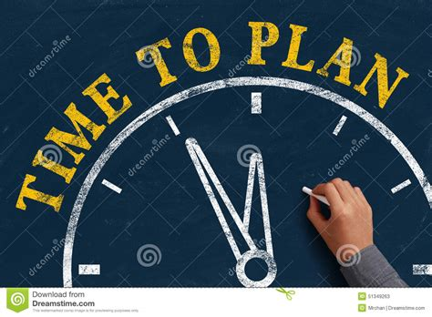Time To Plan Stock Photo  Image 51349263