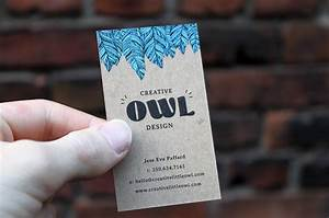 Natural kraft business cards are printed in full color for Chipboard business cards