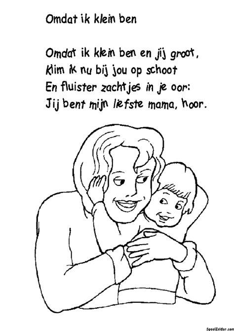 Kleurplaat Moederdag Versje kleurplaat moederdag met versje n vader
