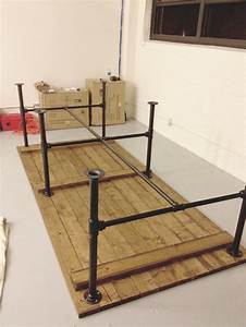 pipe leg table and other modern industrial techie looking
