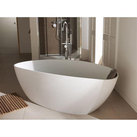 baignoire 238 lot ovale l 157x l 71 cm blanc mat stori leroy merlin