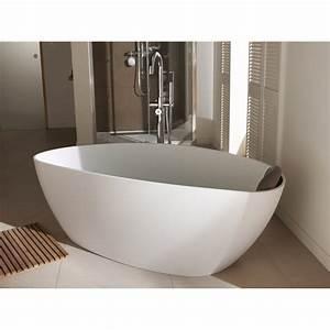 Baignoire Ilot Pas Cher : baignoire lot ovale cm blanc mat stori ~ Premium-room.com Idées de Décoration