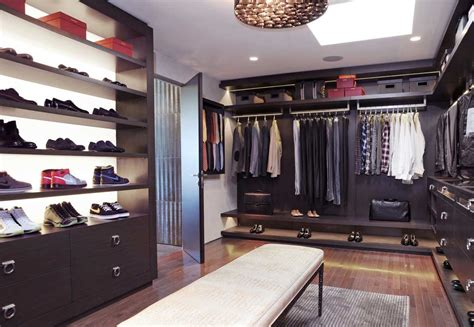 luxury walk in closet storage ideas with seating area