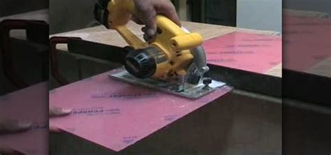 how to cut perspex or acrylic sheet with a circular or