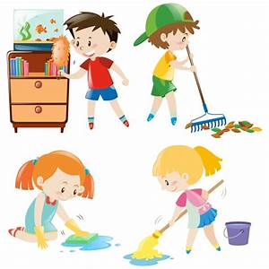 Kids cleaning collection Vector | Free Download