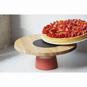 Plat à Gateau : plat g teau sur pied en bois orange capucine ~ Teatrodelosmanantiales.com Idées de Décoration