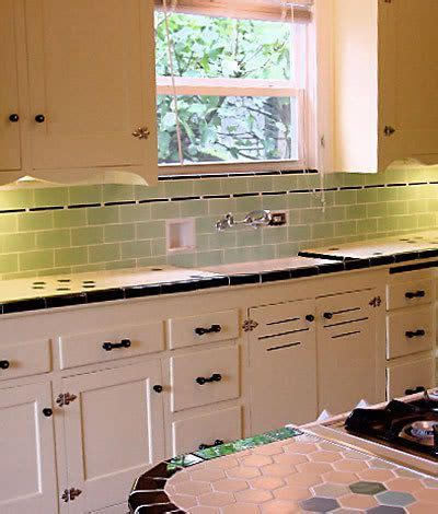 Vintage Kitchen Tile Backsplash vintage kitchen cabinets and tile backsplash and