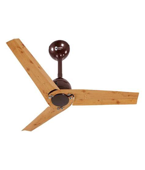 Stylish yet cost effective ceiling fans! Orient 1200mm Joan Pine Wood Metallic Brown Ceiling Fan ...