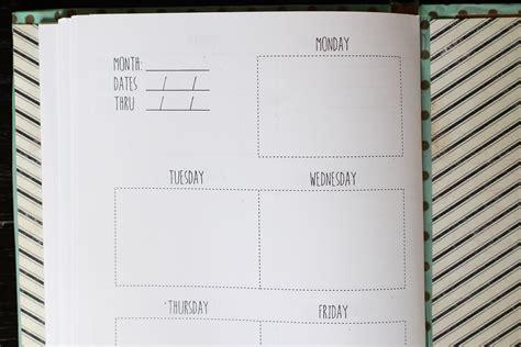 diy weekly planner  template