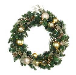 decorative wreaths royal gold battery operated led wreath warm white lights