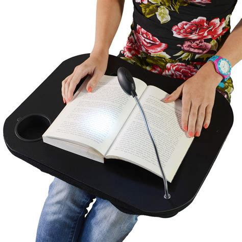 supersoft cushioned portable laptop lap desk tray with