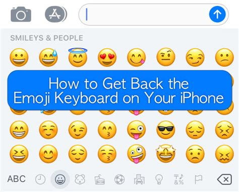 How To Get Back The Emoji Keyboard On Your Iphone
