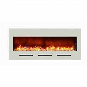 Amantii fire and ice built in flush mount electric for Flush mount electric fireplace
