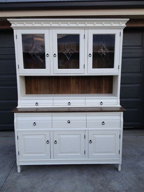 Buffet & Hutch Country Style Old White Chalk Paint And
