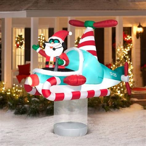 santa helicopter outdoor inflatables christmas wikii