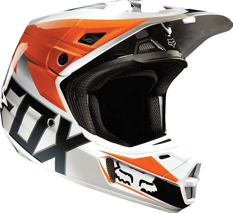 orange motocross gear 190 68 fox racing v2 race mx helmet 199172