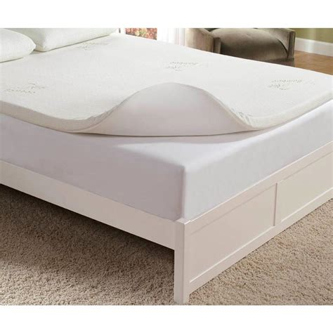 memory foam mattress pad home fashions international 2 in memory foam