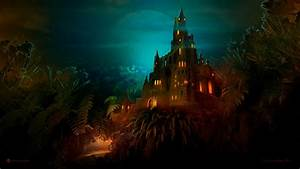 Lilliput, Castle, Dark, Night, Wallpapers