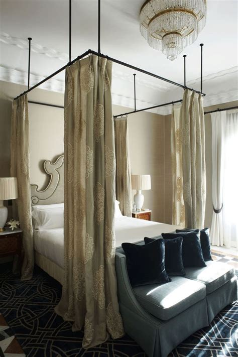 curtains  bed ideas  pinterest small