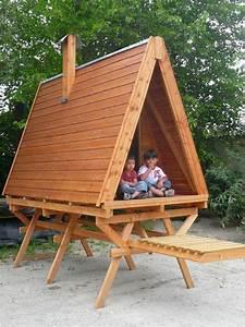 cabane en bois pour enfant en ossature bois sur mesure With plan cabane de jardin enfant