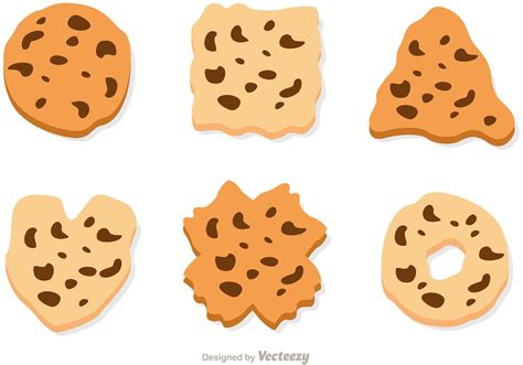 chip cookies clipart vector chocolate chip cookie vector set free vector Chocolate