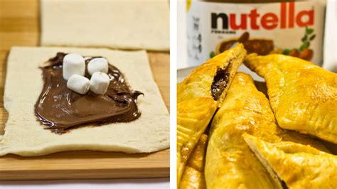 easy nutella pastry pockets fast  fun