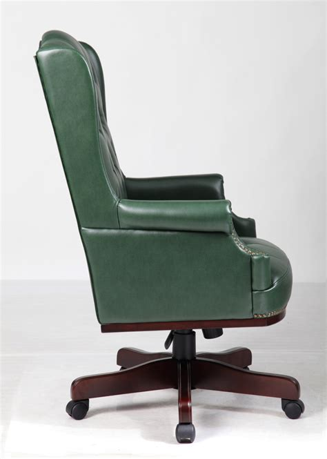 executive managers office chair green leather ahc 2 chest