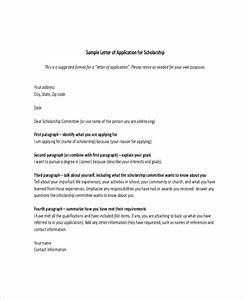 scholarship letter template 8 free sample example With how to make a cover letter for a scholarship application