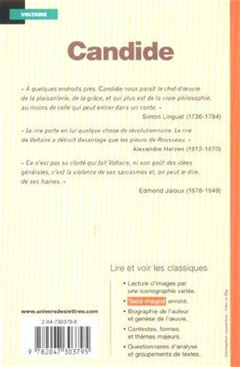 Candide Resume Detaille by Livre Candide Voltaire