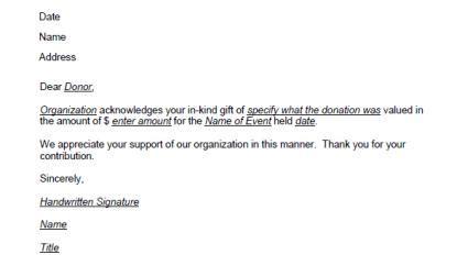 donation   letter template lovetoknow