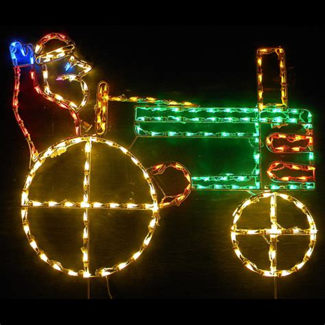 led outdoor christmas decorations lighted santa claus
