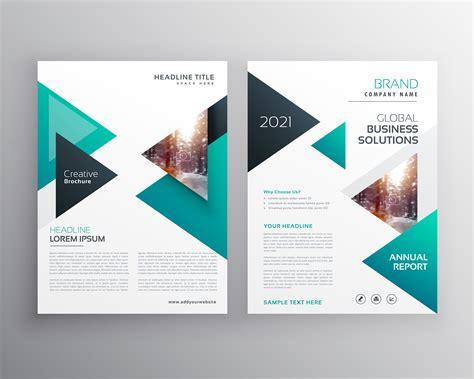 geoemtric triangles business flyer brochure vector