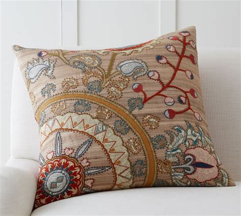 Snowflake Beaded Applique Pillow Cover Pottery Barn by Morrison Embroidered Pillow Cover Pottery Barn