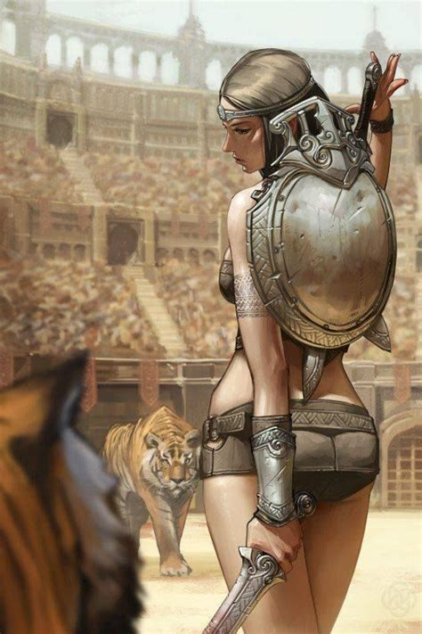 Gladiatrix - Jee-Hyung Lee | Warrior woman, Fantasy art ...