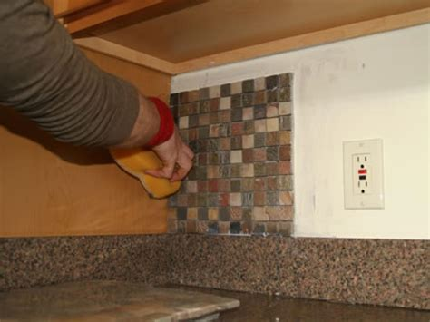 how to install glass mosaic tile kitchen backsplash installing kitchen tile backsplash hgtv