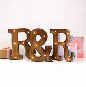 Couples initial fairground wedding letter lights led by for Initial letter lights