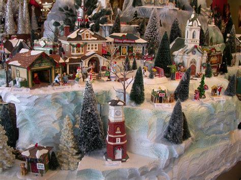 snow village showcase displays