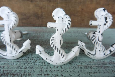 Nautical Drawer Pulls Canada by White Anchor Knob Chippy Distressed Decorative Dresser