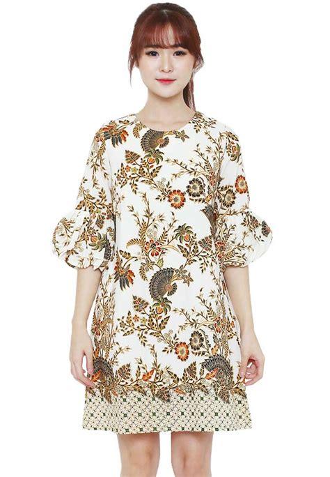 model dress batik kombinasi kain polos tulisanviralinfo