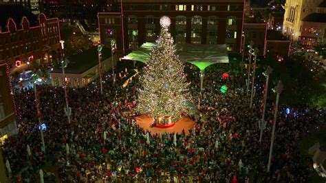 tree lighting in downtown fort worth youtube