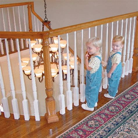 Banister Protection For Babies kid baby banister gate roll clear plastic guard stairway